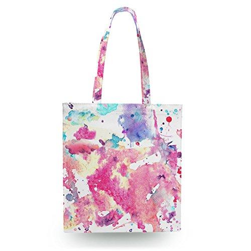 Aquarelle sur toile Sac fourre-tout – Livre Sac, Sac de Sport, Sac à provisions, toile Shopper, Polyester, blanc, Zipper Canvas Tote Bag
