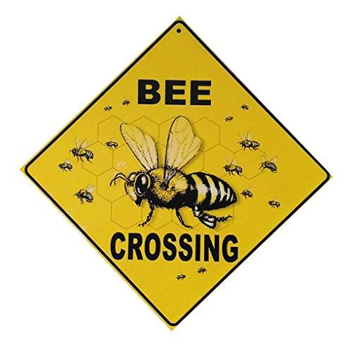 Bee Zuschneidetisch Brief aus Holz Plaque-Wand-Dekor-hängende Anhänger Zeichen-Brett für Gärten Plank Dekoration ()
