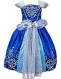 Ninimour Vestido de princesa Cinderella Disfraces para Halloween Cosplay Costume para Niñas