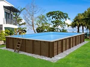 Viva Pool - Piscine bois Canaries - 8.34 x 4.92 x 1.38 m