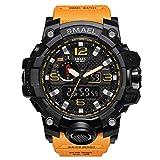 Herren Digitale Uhren, Sport Laufen wasserdichte militärische Armbanduhr Fashion Men LCD Digital Stoppuhr Herren-Orange-WCH1545-OG