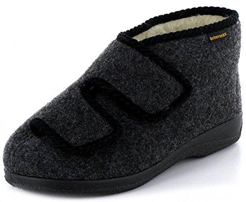 Quick-Schuh  1003122, Chaussons pour homme Schwarz Antrazit