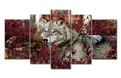 Wolf in the Forest Bilder drucken auf Leinwand Animal The Decor Oil for Home Dekoration moderne Druck (Halloween Christmas Tree Ornaments)