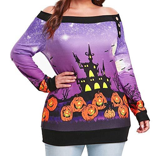 Alinwer Unisex Hoodie Lose Fitting Pullover Hiphop Übergroße Casual Sweatshirt für Männer Frauen Teen (Violett Der Clown Teen Kostüm)