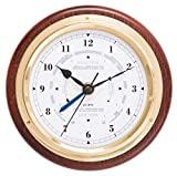Fischer Tide Uhr, Messing, 110 x 84 mm, Holz, Mahagoni Coloured, 170 x 130 mm