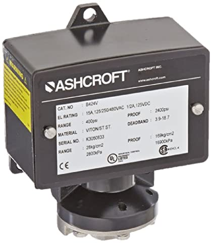 Ashcroft B Series Type 400 Pressure and Differential Pressure Switch,