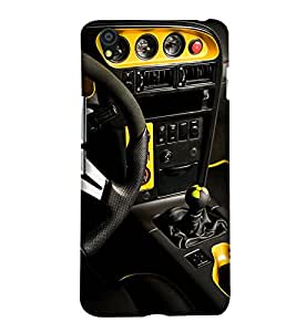 PrintHaat Designer Back Case Cover for OnePlus X :: One Plus X (love cars :: love driving :: love speed :: car interior :: in yellow and black)