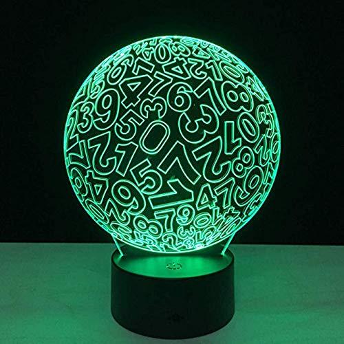 Digital Ball Acylic Led 3D Nachtlicht Touch Bunte Schreibtisch Tischlampe 3D Visuelle Lichter Für Jungen Kind Geschenke Schlafzimmer Dekoration -