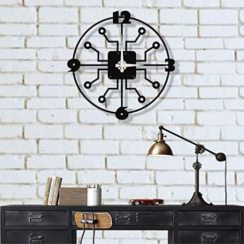 Dekadron Design unique Horloge murale en métal pieuvre 69x69cm noir