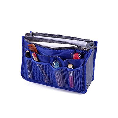 Brown Leaf ® Multipocket Handbag Organizer Travel, Make Up Bag Purse Pouch For Women And Men (Red)