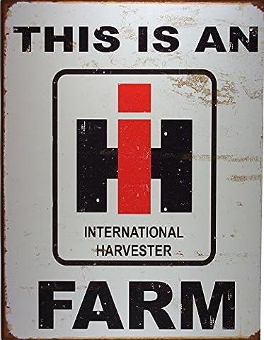 Enseigne Métal 'International Harvester Farm' Rouillé (de)