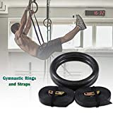 Wetour Gym Ringe Black Gymnastikringe Kunststoff Verstellbar Fitnessringe Turnringe, Fur Muskel Strength Training Home Fitness