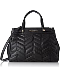 Versace Jeans - Ee1vqbbx5_e75431, Bolsos de mano Mujer, Nero, 17x26x37 cm (W x H L)