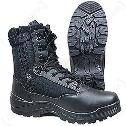 Mil-Tec Tactical Side Zip Botas Negro tamaño 11 UK / 12 US