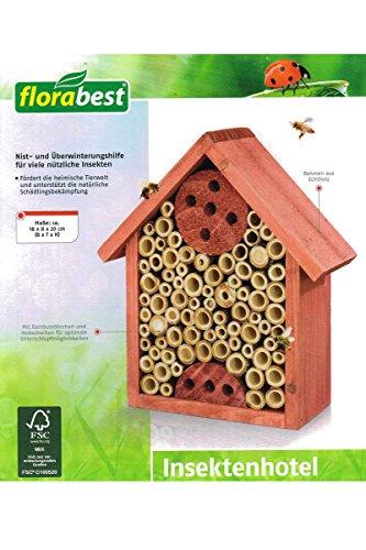 Florabest® Insektenhotel Insektenhaus Rot-Braun