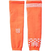 Compressport Arm Force - Calentadores de brazos de running para hombre, color naranja fluor, talla M