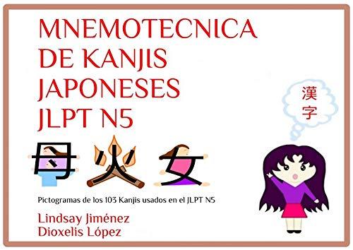 MNEMOTECNICA DE KANJIS JAPONESES JLPT N5: Pictogramas de los 103 Kanjis  usados en el JLPT N5