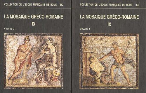 La mosaïque gréco-romaine 2 volumes : Tome 9 par Hélène Morlier