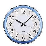 Vinteen Blaue Umweltschutz-Plastikwand-Uhr Stille Uhr-Moderne Einfache Kreativität-Tendenz-Wohnzimmer-Konferenzzimmer-Quarz-Uhr Horologe-Uhr und Uhren