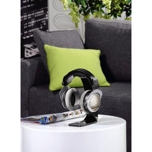 Hama Kopfhörer-Ständer (Kopfhörer-Halter mit Kabelhalterung, Höhe 23cm, Acryl) schwarz - 4