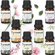 Skymore Top 8 Set di oli essenziali puri,Regalo romantico,100% di oli essenziali di aroma per diffusore, (citronella, lavanda, tea tree, eucalipto, arancio, menta, incenso e rosmarino),8x10ml