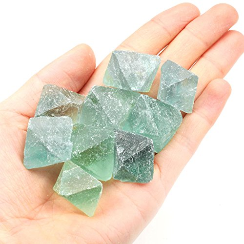 QGEM 0.26 ~ 0.28 lb lose grün Fluorite Quarz grobe Steine rohe natürliche Kristall für Schleifen, Schneiden, Trommeln, Polieren, Drahtverpackung, Wicca & Reiki heiende Behandlung (Edelsteine Schneiden)