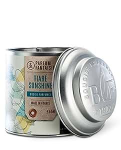 Bougies la Française - Bougie parfumée boîte à thé 65h tiaré sunshine