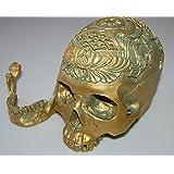Modèle 1:1 Crâne Humain Enseignement Anatomie Modèle de Sculpture Décoration - Bronze Antique