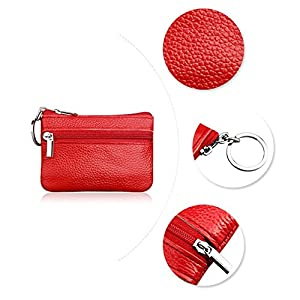 Dairyshop Ladies Leather Wallet Pouch Purse for Small Coin Card Key Ring