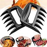 Forchetta per barbecue portatile Metallo per barbecue Artiglio Separatore di carne Cucina Carne di maiale Pollo Barbecue Forchetta per tagliare Tirare Sollevare Facile da pulire Funzionamento semplice