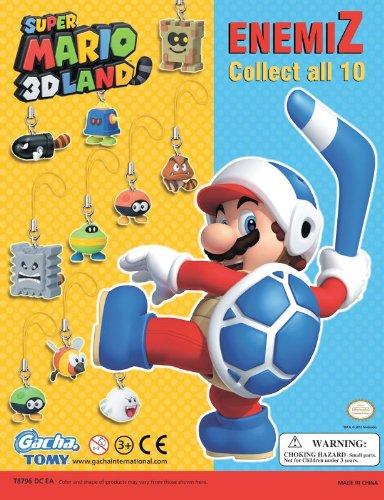 Super Mario 3D Land Gacha Enemy Danglers Anhänger / Handyanhänger / Cell Phone Charms: Set (10 Anhänger)