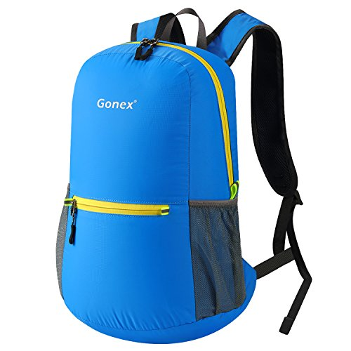 Gonex Unisex 20 Liter Faltbarer Rucksack Leichter Tagesrucksack, für Outdoor Wandern Reisen
