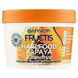 Garnier Fructis Hair Food Papaya Maschera Riparatrice 3 in 1 con Formula Vegana per Capelli Danneggiati, 390 ml