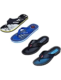 IndiWeaves Men Flip Flop House Slipper And Sandal-Blue/Black/Blue/Black - B071Z6NP3L