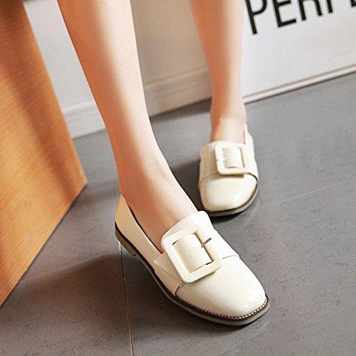 ... Mee Shoes Damen flach ungefüttert Geschlossen Pumps Beige ...