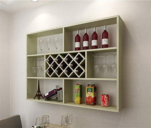 Ali@ Weiße Ahorn Wand Weinschrank Wand Restaurant Wand Wein Gitterregal Lagerung Racks Home Weinregal Moderne einfache Weinkühler (größe : 120cm) (Ahorn-speicher)