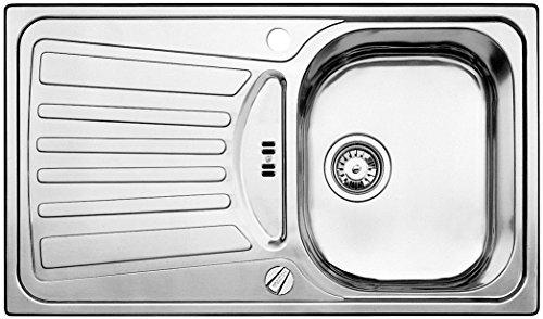 Blanco Plus 45 S, Küchenspüle, mit Ablauffernbedienung, Edelstahl Bürstfinish, 512874