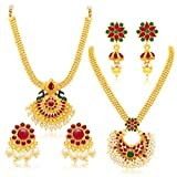 Sukkhi Jewellery Sets for Women (Golden) (403CB1900)