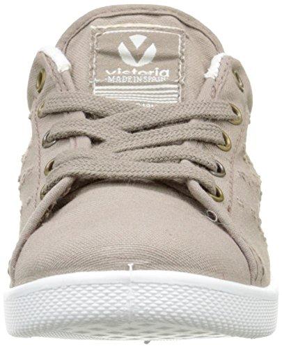 Victoria Deportivo Basket Lona Tintada, Sneaker Basse Unisex - bambini Marron (88 Stone)