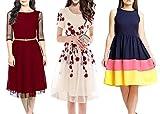 #8: Market Magic World Women's Multicolor Western Wear Kurtis-Kurtas Combo Pack Of 3