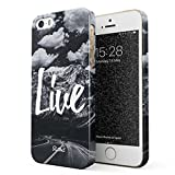 Glitbit Love Life Inspirational Motivation Quote Explore Mountains Landschaft Natur Berge Zitat Dünn Robuste Rückschal