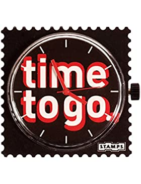 S.T.A.M.P.S. Stamps Uhr Zifferblatt Leave Time to go