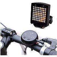 Bicicletta coda luce telecomando senza fili USB ricaricabile spie