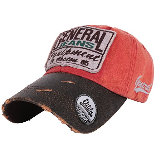 ee2b53ad47d Ililily Flexfit Gangnam Style Vintage Distressed Pre Curved Bill Fashion  Design Text Logo Patched On Front And Side Ball Cap Trucker Hat With  Adjustab
