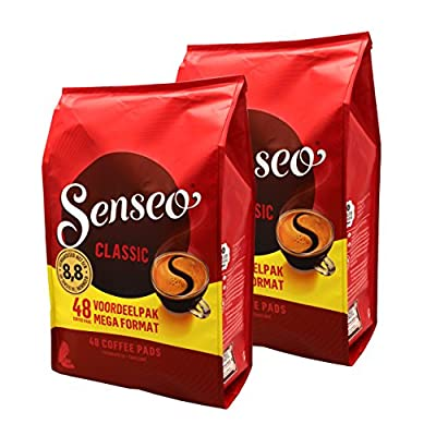 Senseo Regular / Classic Roast, New Design, Pack of 2, 2 x 48 Coffee Pods