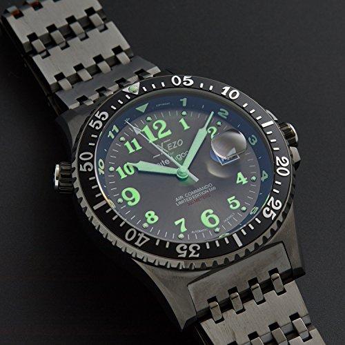 Xezo für Unite4:good Air Commando-Uhr (Automatik) , Schweizer Saphirglas und Citizen-Uhrwerk, 30 ATM, Serie