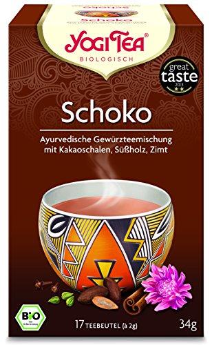 6er Pack Yogi Tee BIO Schoko Tee, 17 Btl. 37,4g (frachtfreie Lieferung (BRD) ab Einkauf € 15.-) (6) - 6-pack Bio-tees