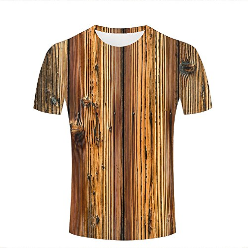 3d Print T Shirts Bumpy Wooden Boards Graphics Men Women Couple Fashion Tees B