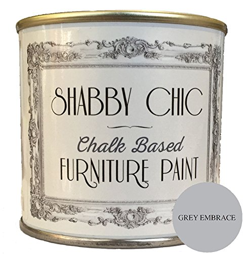 Shabby Chic Furniture Paint - Pintura de tiza para muebles para crear un estilo envejecido, 125 ml, color gris