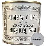 Shabby Chic Furniture Paint - Pintura de tiza para muebles para crear un estilo envejecido, color gris 1 litro.